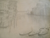 2031 Pencil Drawing,Venice,Italy.23x35